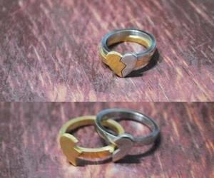 love, ring, and heart image