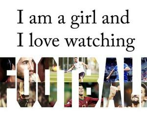 football, girl, and love image
