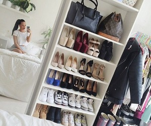 shoes, room, and closet image