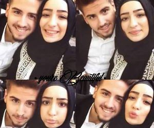beautiful, muslim, and cople image