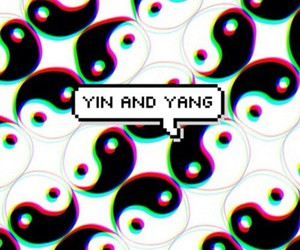 wallpaper and yin e yang image