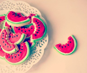 food, sweets, and watermelons image
