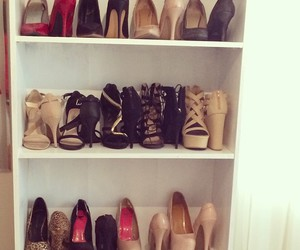 bedroom, closet, and heels image