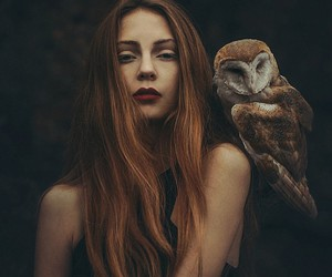 girl and owl image