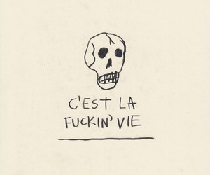quotes, grunge, and skull image