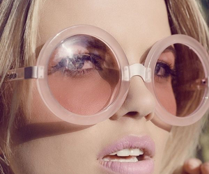 sunglasses, fashion, and pink image