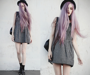 bae, lilac, and black and white image
