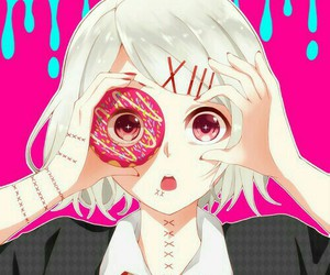 tokyo ghoul, anime, and donuts image