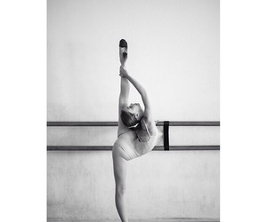 ballet, blackandwhite, and dance image