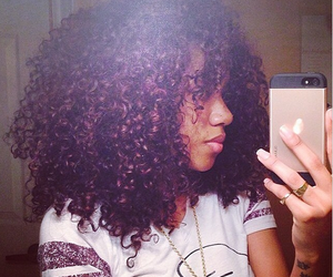 curly hair, hair, and naturally curly hair image
