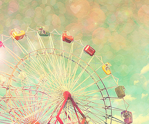 vintage and ferris wheel image