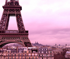 eiffeltower, pink, and wallpaper image
