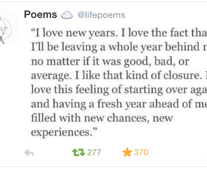 new day, new year, and poems image