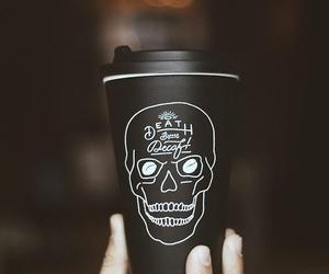 black, coffee, and skull image