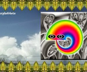 eating, mister, and rainbow image
