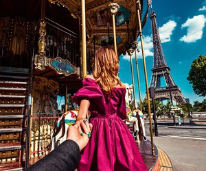 couple, paris, and traveling image