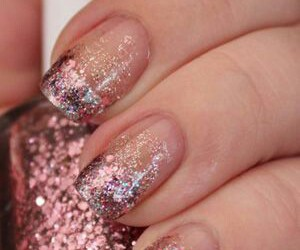 nails, glitter, and make up image