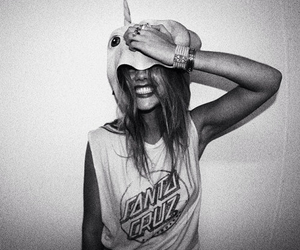 girl, unicorn, and smile image