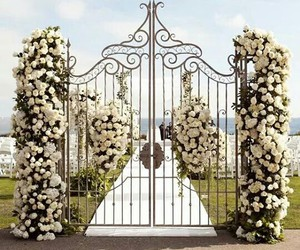 flowers, wedding, and white image