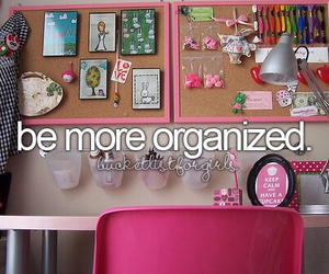 organized, bucket list, and 2015 image