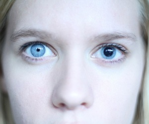 eyes, girl, and concusion image
