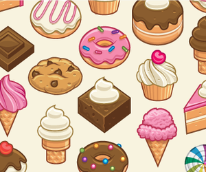 chocolate, donuts, and ice cream image