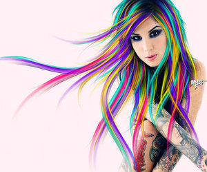 hair, kat von d, and tattoo image