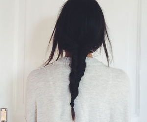 beautiful, braid, and brunette image