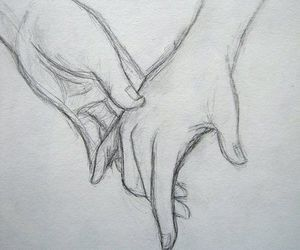 amazing, drawing, and holding hands image