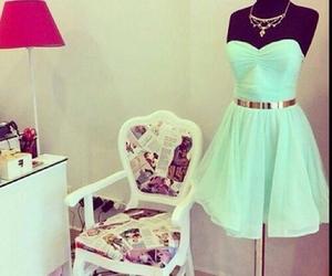 beautiful, dress, and mint image