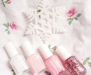 pink, nails, and rose image