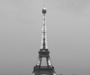 black and white, paris, and city image