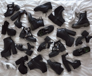 black, boot, and boots image