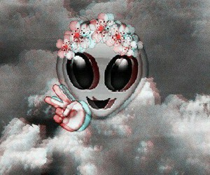 alien, flowers, and peace image