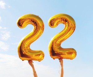 22, balloons, and number image