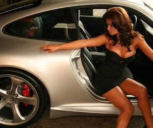 car, cars, and girl image