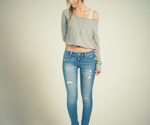 hair, jeans, and mode image