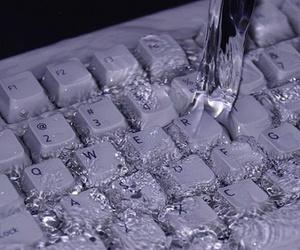 water, keyboard, and purple image