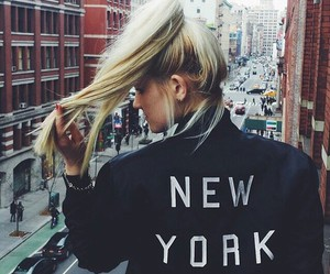 girl, new york, and hair image