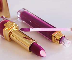 lipstick, makeup, and purple image