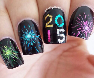 2015, nails, and new year image