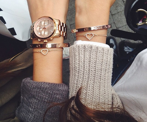beautiful, bracelets, and fashion image