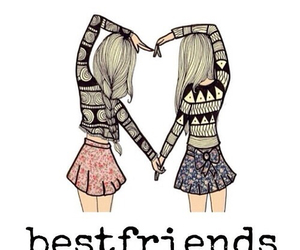 bff, friends, and heart image