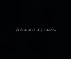 smile, mask, and sad image