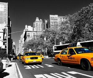 taxi and city image