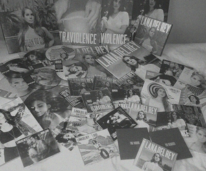 albums, black and white, and cds image