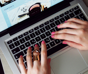 nails, laptop, and apple image