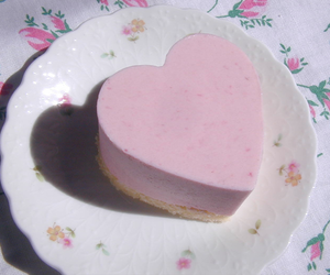 cake, heart, and pink image