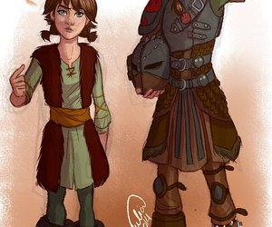hiccup, girl, and how to train your dragon image