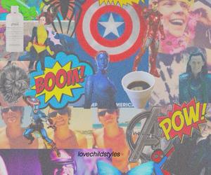 Avengers, blue, and comics image